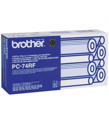 Genuine Brother PC74 Ribbon Refill x 4