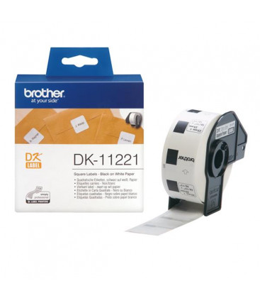 Genuine Brother DK-11221 Perm Adh Square Labels x 100