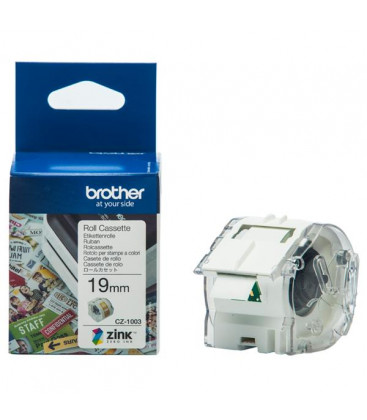 Genuine Brother CZ1003 White Continuous Label Roll Cassette