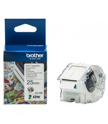 Genuine Brother CZ1004 White Continuous Label Roll Cassette