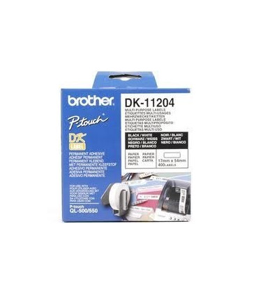 Genuine Brother DK-11204 Multi Purpose Labels x 400