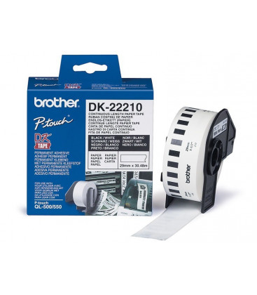 Genuine Brother DK-22210 Paper Tape