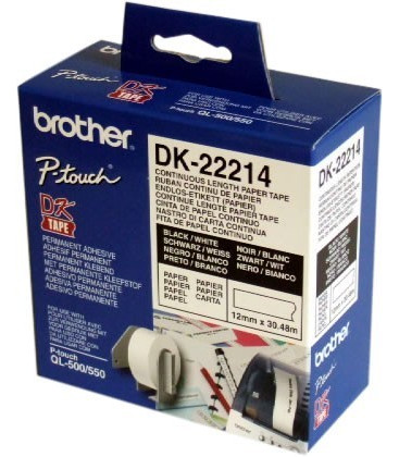 Genuine Brother DK-22214 Paper Tape