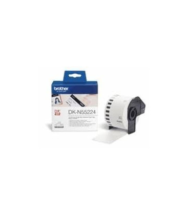 Genuine Brother DK-N55224 Non Adh Thick Paper Tape Bl-Wh