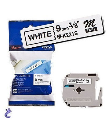 Genuine Brother MK-221SBZ Black on White Tape