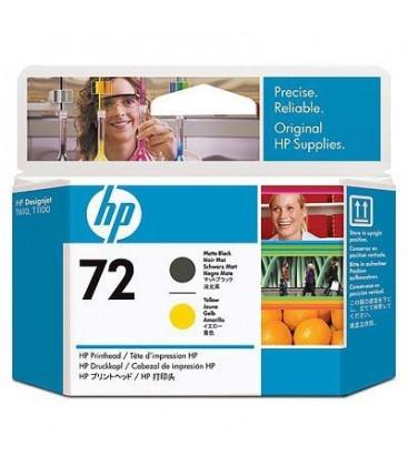Genuine HP 72XL C9384A Matte Black/Yellow Printhead