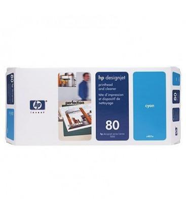Genuine HP 80 C4821A Cyan Printhead + Cleaner