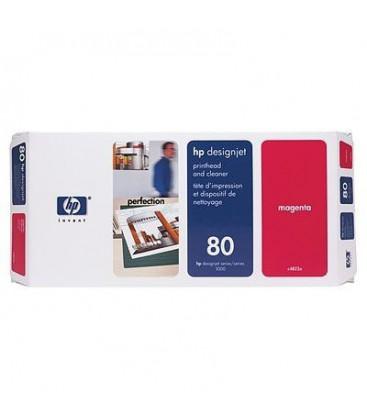 Genuine HP 80 C4822A Magenta Printhead + Cleaner