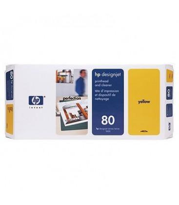 Genuine HP 80 C4823A Yellow Printhead + Cleaner