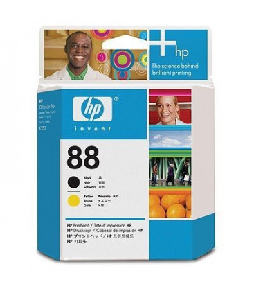 Genuine HP 88 C9381AE Black & Yellow Printhead
