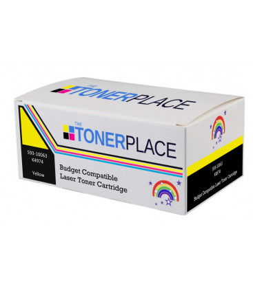 Budget Compatible Dell 593-10063 K4974 Yellow Toner