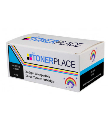 Budget Compatible Dell 593-10118 GD907 Cyan Toner