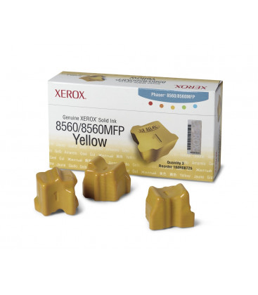 Genuine Xerox 108R00725 Yellow Solid Ink Sticks x 3