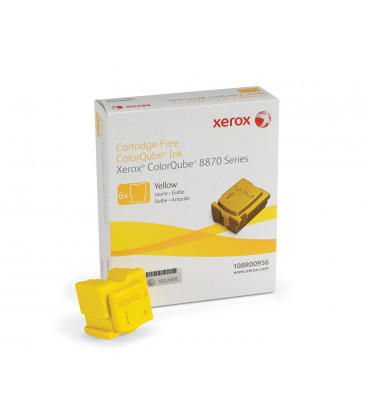 Genuine Xerox 108R00956 Yellow Solid Ink Sticks x 6
