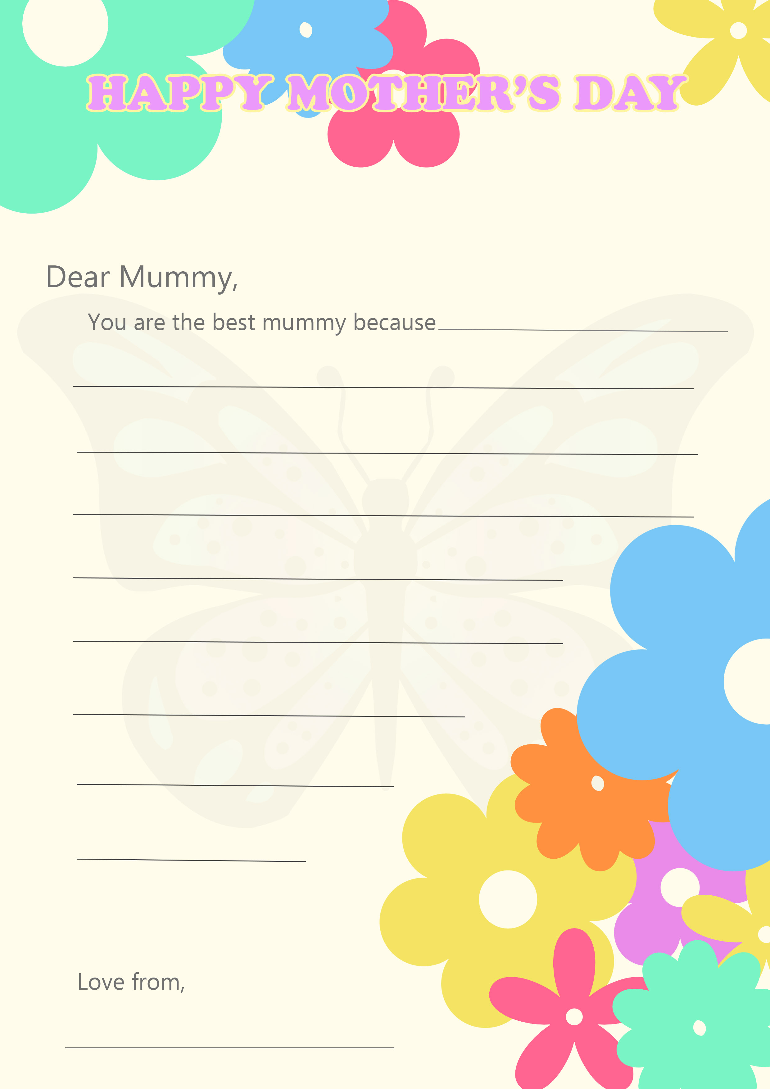 printable mother s day letter blog