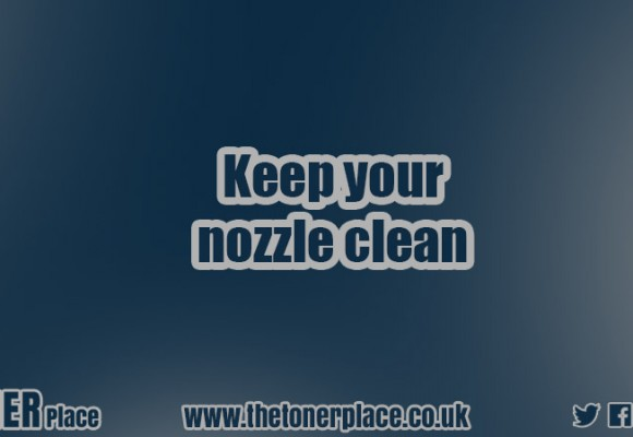 Keep your nozzle clean