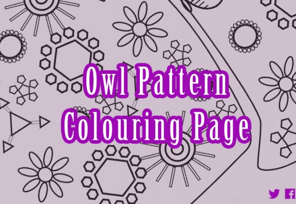 Owl Pattern Colouring Page
