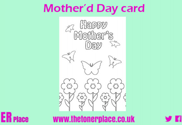 Mother's day printable colouring card