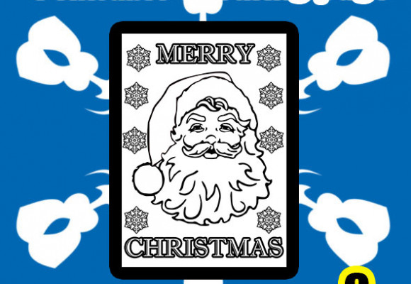 Santa printable colouring page
