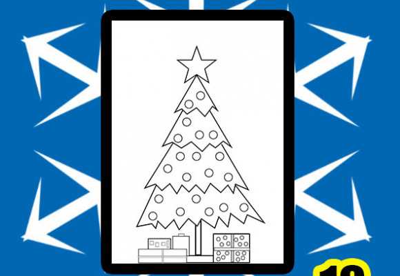 Christmas Tree Printable Colouring page